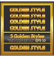 Set of Rich Luxury Golden Styles for Design vector image