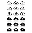 Cloud icons set for web vector image