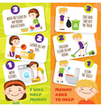 Kids Cleaning Banners vector image