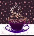 coffeetime ink hand drawn vector image