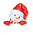 snowman hide vector image
