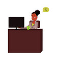 young businesswoman secretary sitting at office vector image vector image