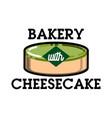 color vintage bakery emblem vector image