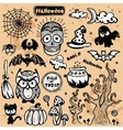 vintage Halloween set of icons vector image vector image