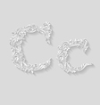 Decorated letter c vector image vector image