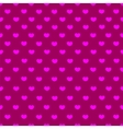Pink and purple heart textile seamless pattern vector image