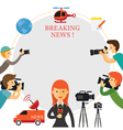 Reporter Photographer Cameraman News Report vector image