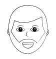 cartoon face man male character person vector image