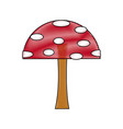 cartoon mushroom educational game for kids vector image