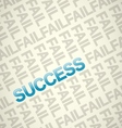 Fail and Success vector image
