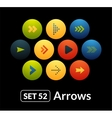 Flat icons set 52 - signs arrows vector image