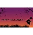 Halloween backgrounds ghost scary vector image