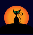 halloween cat and moon sign 109 vector image