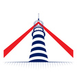 lamp of lighthouse tower icon vector image