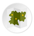 road map icon circle vector image