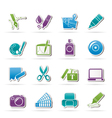 Graphic and web design icons vector image vector image