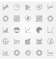 Graph icons set vector image