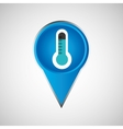 signal weather thermometer pin design vector image