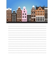 Paper for note with Amsterdam vector image