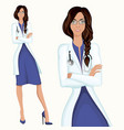 Young woman doctor vector image