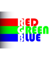 RGB label of colors vector image