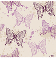 Seamless pattern with violet butterflies vector image vector image