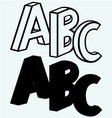 Alphabet with ABC vector image vector image