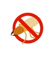 Warning sign with beetle stag icon vector image