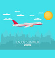 concept of airplaney modern flat design vector image