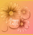 happy easter background with decorative eggs vector image