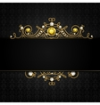 Jewellery black background vector image