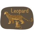 Leopard whith child vector image