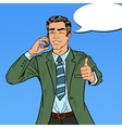 Pop Art Businessman Talking on the Phone vector image