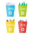 Set of Recycle Garbage Bins Waste Recycling vector image