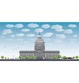 Washington DC Capitol landscape vector image