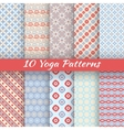 10 Yoga seamless patterns tiling vector image