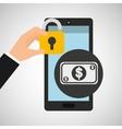 smartphone bill money security vector image