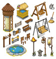 large set constructor items for locations vector image
