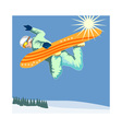 Snowboarding on Air vector image