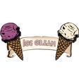 ice cream label vector image