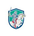 Knight Riding Horse Sword Cartoon vector image vector image
