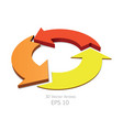 3d colorful arrows circle vector image
