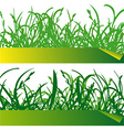 Green grass labels vector image