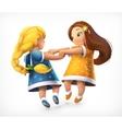 Dancing little girls vector image vector image