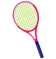 Tennis racket with pink frame vector image