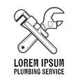 Plumbing service insignia vector image