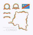 Colors of Democratic Republic of the Congo vector image