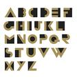 Geometric Retro Alphabet Art deco style Type font vector image