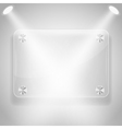 Glass framework with spotlights vector image