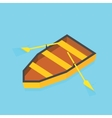 Isometric paddle boat on water vector image